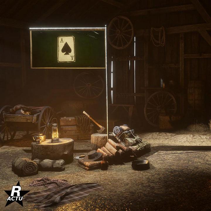 Drapeau 1 pour le campement - Red Dead Online