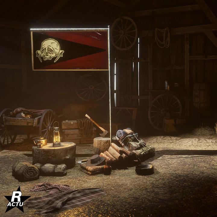 Drapeau 2 pour le campement - Red Dead Online