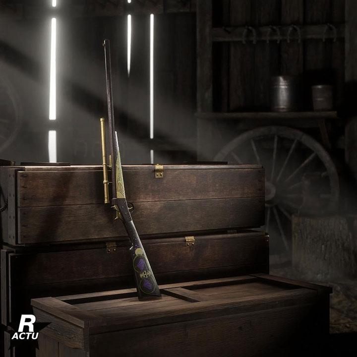Variante Reaper du fusil Rolling Block du passe de hors-la-loi Halloween 2020 dans Red Dead Online