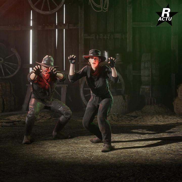Interaction Frighten - Passe de hors-la-loi halloween 2020 - Red Dead Online