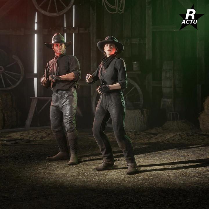 Interaction Scared - Passe de hors-la-loi halloween 2020 - Red Dead Online