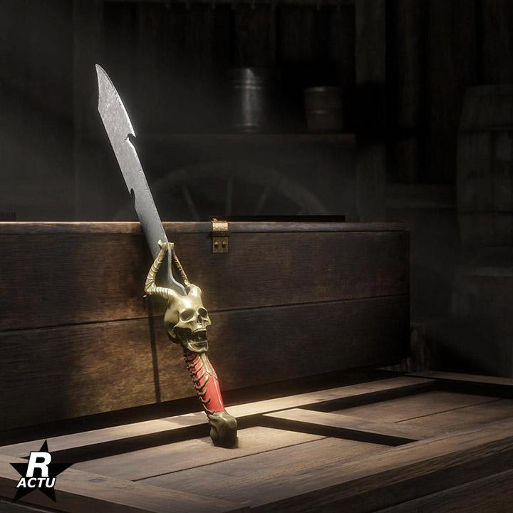 Machette de l'horreur du passe de hors-la-loi d'halloween 2020 - Red Dead Online