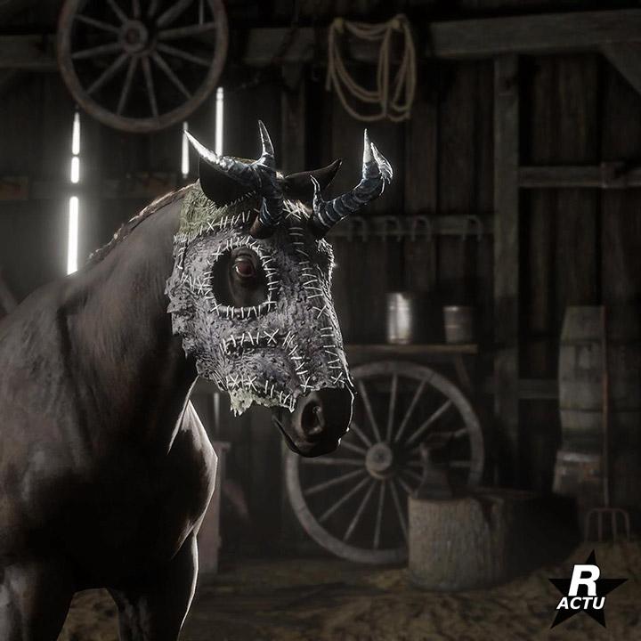 Masque pour cheval spéciale halloween 2020 - Red Dead Online