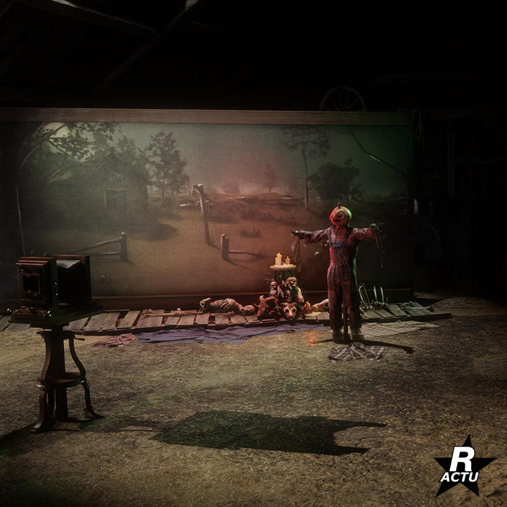 Thème halloween pour le photographe - Red Dead Online