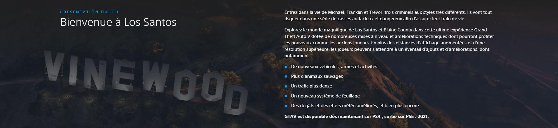 GTA 5 PS5 améliorations ?