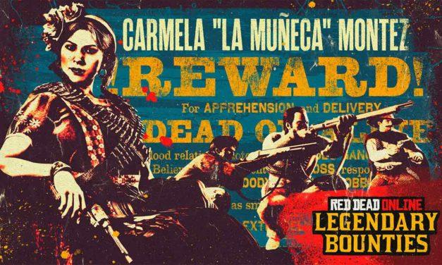 """Red Dead Online : La prime légendaire Carmela """"La Muñeca"""" Montez est disponible"""